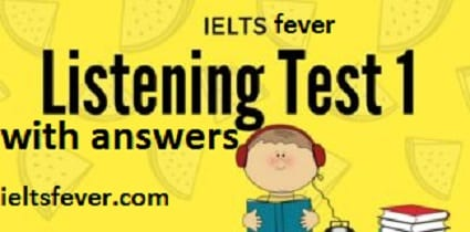 listening test 1 REVISION NOTE