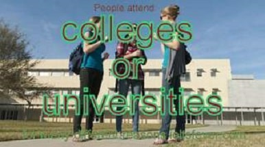 People attend colleges or universities for many different reasons ielts exam