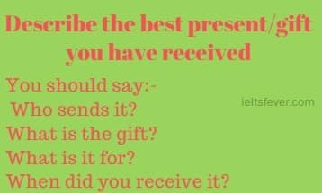 Describe the best present/gift you have received