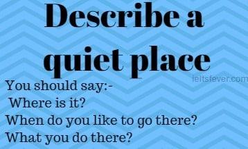 describe a quiet place essay