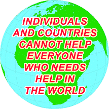 Individuals and countries cannot help everyone who needs help in the world, so  they should only be concerned about their own communities and countries. To  what extent do you agree or disagree?