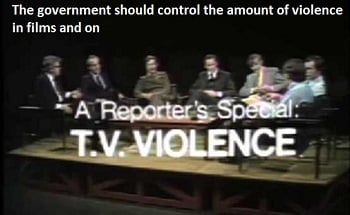The government should control the amount of violence in films and on television in order  to decrease the violent crimes in society. To what extent do you agree or disagree?