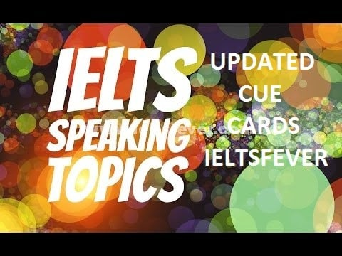 January to April 2017 cue card topics with answers updated IELTS EXAM