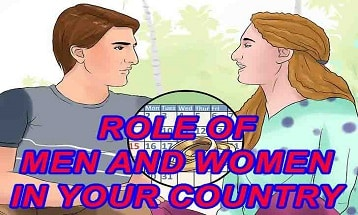 Role of men and women in your country ielts speaking cue card with answer IELTS EXAM