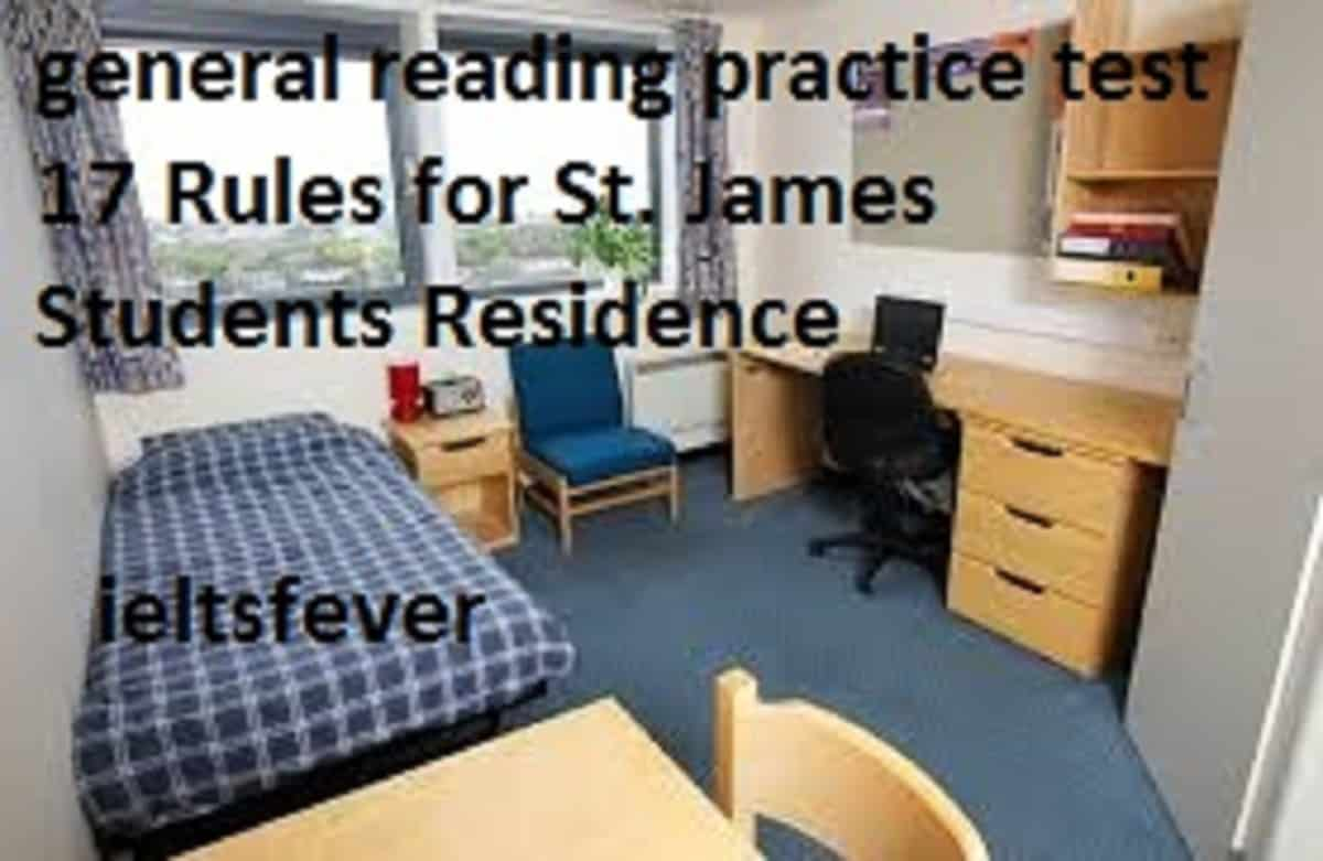 general reading practice test 17 Rules for St  James