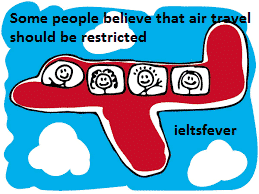 Some people believe that air travel should be restricted ielts exam