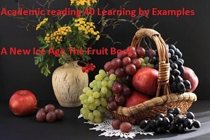 Academic reading practice test 40Learning by ExamplesA New Ice AgeThe Fruit Book