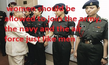 Some people think women should be allowed to join the army
