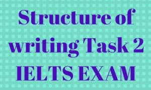 Structure of writing Task 2 ielts exam tips for students