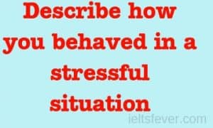 Describe how you behaved in a stressful situation