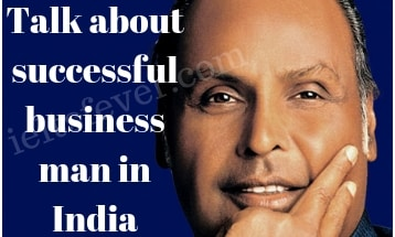 Talk about successful businessman in India