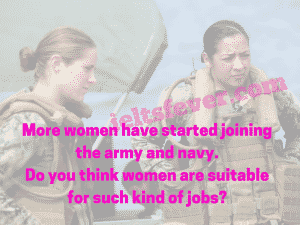 More women have started joining the army and navy