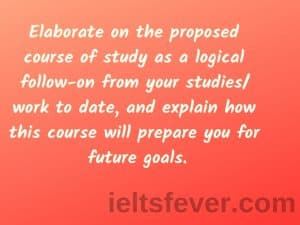 Elaborate on the proposed course of study as a logical follow-on from
