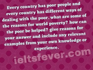 Every country has poor people and every country has different ways
