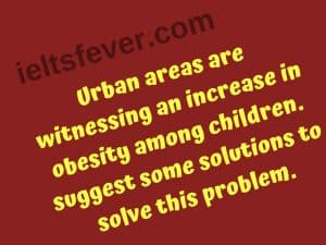 Urban areas are witnessing an increase in obesity among children