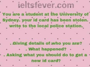 You are a student at the University of Sydney. your id card has been