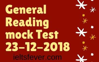General Reading mock Test 23-12-2018