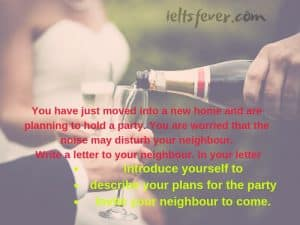 You have just moved into a new home and are planning to hold a party