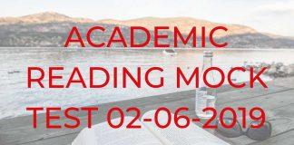 ACADEMIC READING MOCK TEST 02-06-2019