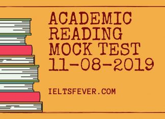 ACADEMIC READING MOCK TEST 11-08-2019