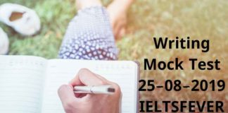 Writing Mock Test 25-08-2019 IELTSFEVER