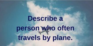 describe a person who often travels by plane