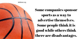Some companies sponsor sports as a way to advertise themselves