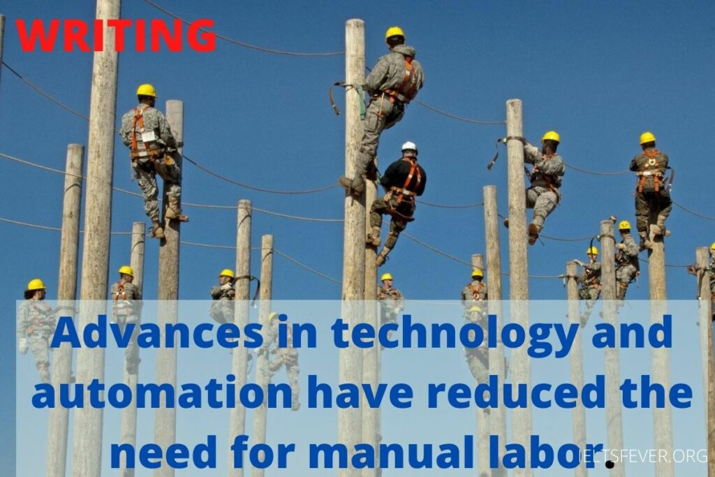 Advances in technology and automation have reduced the need for manual labor.