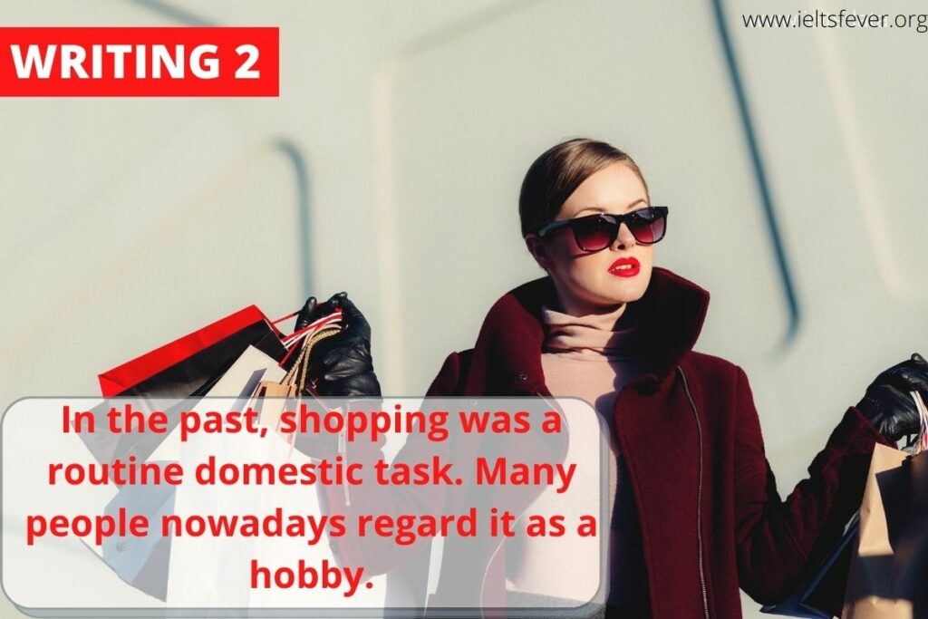 In the past, shopping was a routine domestic task. Many people nowadays regard it as a hobby.
