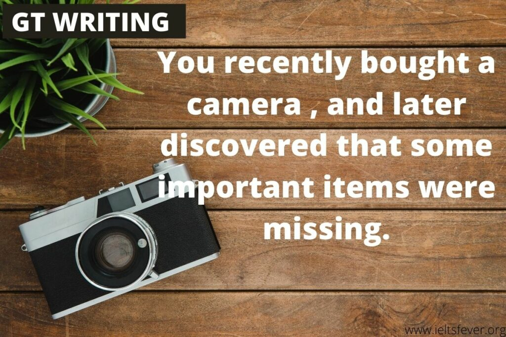 You recently bought a camera while traveling overseas