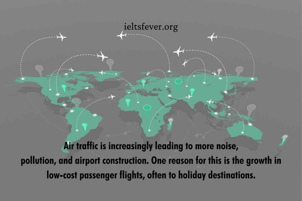 Air traffic is increasingly leading to more noisepollution