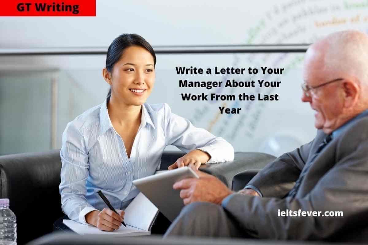 Write a Letter to Your Manager About Your Work From the Last Year