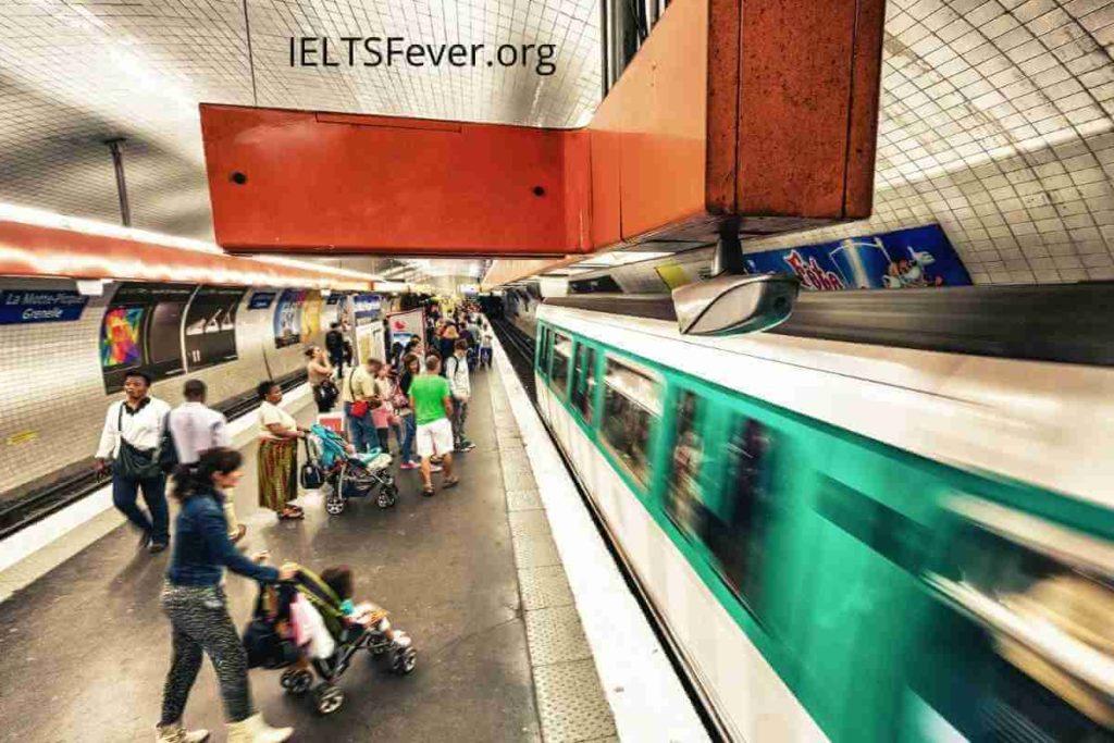 The Line Graph Shows Paris Metro Station Passengers