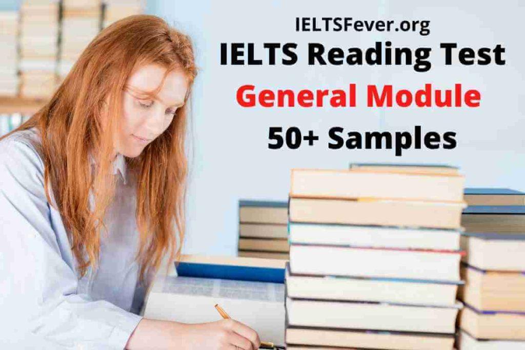 IELTS Reading Test General Module 50+ Samples