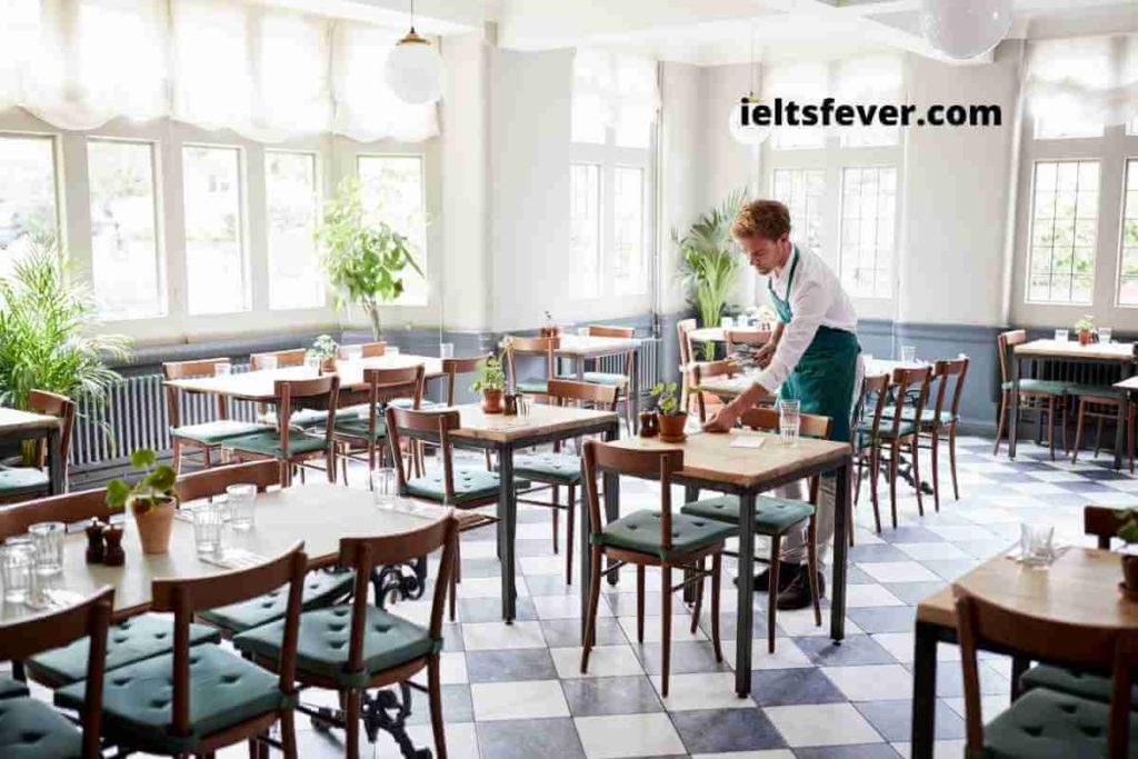 You Are Very Disturbed by The Noise Coming from A Restaurant (1)